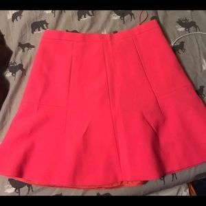 J-CREW- hotpink mini skirt
